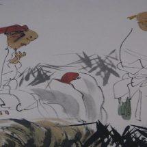 ภาพเขียนพู่กันจีนความสวยงามที่อยู่ใต้เส้นหมึก